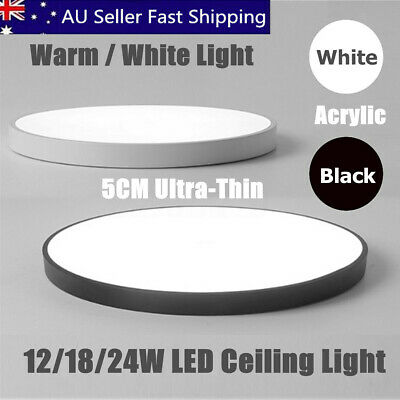 12/18/24W Modern Round Fashion LED Ceiling Light Living Room Bedroom