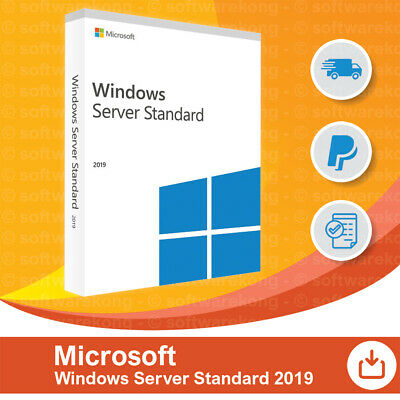 Microsoft Windows Server 2019 Standard 16-Core 64bit Vollversion, Multilingual.