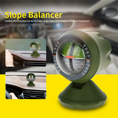 Outdoor Multifunction Car Inclinometer Angle Balancer Slope Meter Measure ABS US