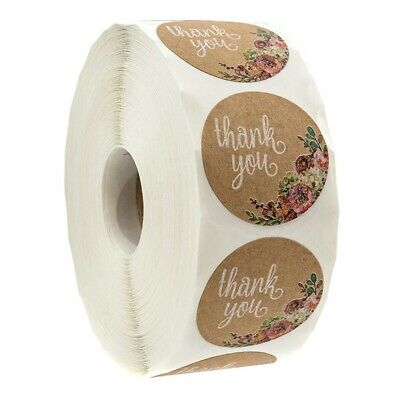300 Labels Per Roll//Permanent Adhe 1H 1.15 inchX2 inch Kraft Gift Tag Stickers