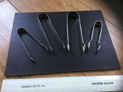 Selection Solid Silver Hallmarked Sugars Tongs- Various Makers & Dates 1810-1924