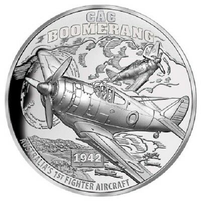 2017 $1Niue - Boomerang Fighter Plane - Ultra High Relief 1oz Silver Proof