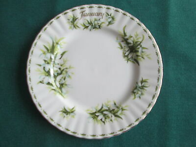 "ROYAL ALBERT FLOWER OF THE MONTH JANUARY SALAD PLATE 8"" WIDE 1st QUALITY"