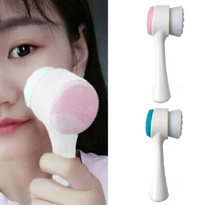Face Facial Cleansing Brush Skin Care Silicone Massage Deep Cleaning Soft Brush