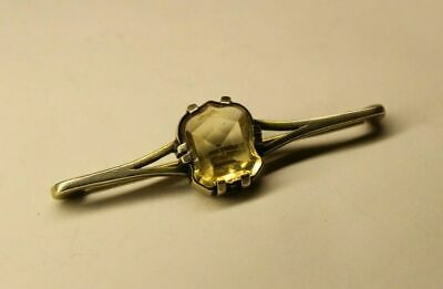 Antique Russian 84 silver BROOCH with Stone 19th century Faberge design
