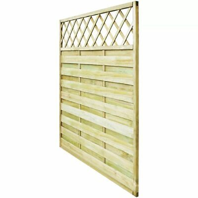 Garden Fence Panel with Trellis Wood Climbing Plant Support 180x180cm FSC Square