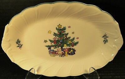 "Nikko Happy Holidays Gravy Underplate Platter 9 1/4"" Christmas Tree Excellent"