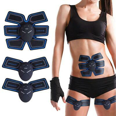 2AA Batteries Abdominal Toning Muscle Toner Trainer ABS Smart EMS Fitness Belts