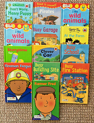 13 Childrens Ladybird Hardback Books, Storytime, Read It Yourself, Workmates