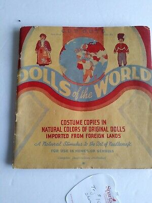 CLOTH DOLL CUT OUTS—BOOK No. 1 VINTAGE 1939--SEW STUFF