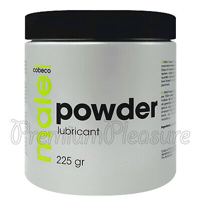 Cobeco Male Powder lubricant Anal fisting gel 225g makes up to 25 liters lube