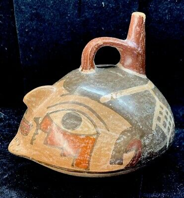Rare Antique Terracotta Sculpture Artifact pottery Mayan Aztec Music Whistle