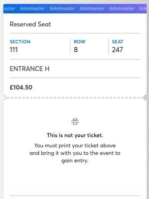 Spice Girls seated ticket Wembley 14/06