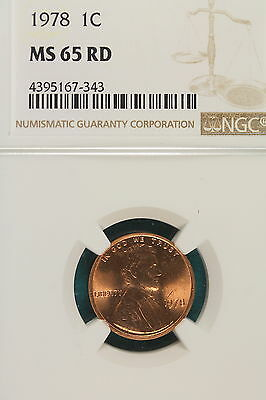 1978-P NGC MS65 RED Lincoln Memorial Cent!! #A7543
