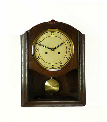 Vintage Junghans Wall Clock 3 Bar Chime German  at 1950
