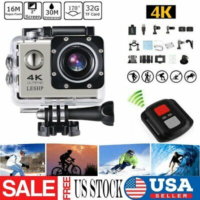 """4K 16MP WiFi 1080P 2"""" HD Video Action Sports DV Camera Cam Camcorder Waterproof"""
