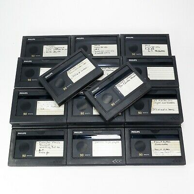 Lot of 20 Used Philips DCC Digital Compact Cassettes of 90 Minutes (DCC#6)