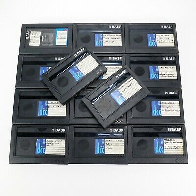 Lot of 14 Used BASF DCC Digital Compact Cassettes of 90 Minutes (DCC#7)