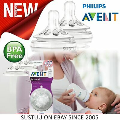 Philips Avent Natural Teat Vari Flow│Baby's Feeding Accessories│Twin Valve│2pk│