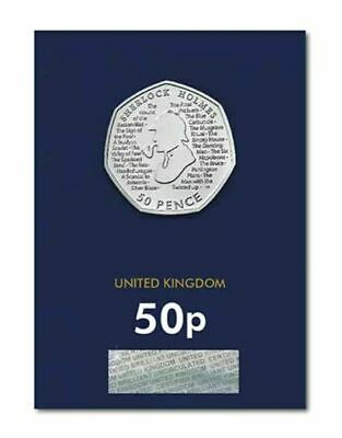 2019 Sherlock Holmes Fifty Pence 50p Coin Brilliant Uncirculated BU UK Sealed