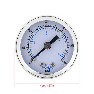 0-60psi 0-4bar Pressure Gauge Manometer for Water Air Oil Dial Instrument