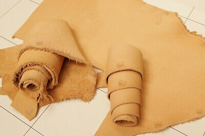 Horween Dearbourne Veg Tan Natural Leather OffCuts 2.5-2.8mm thick soft 1.2k