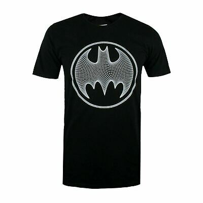 Dc Comics Official Batman 3D Effect Logo Design - Men's T-Shirt - Black