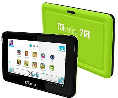 """KURIO 7s 8GB 7"""" Kids Android Tablet Games HDMI Green C13000 32GB SD Card Option"""