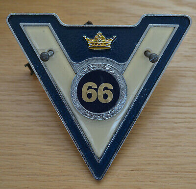 Vintage Vm Veteran Motorist Car Badge No Year Badge Attached. Badges & Mascots