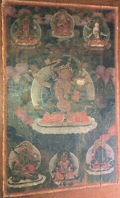 17th / 18thC TIBETAN THANKA PAINTING BUDDHA TIBET