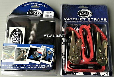 Motorcycle Handlebar Tie Down bar Straps & Ratchet straps  Trailers Track Days