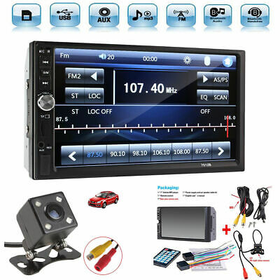 "7"" Touch Screen FM Bluetooth Radio Audio Stereo Car Video Player & HD Camera"