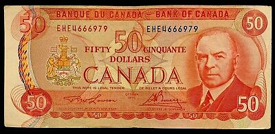 1975 - Canadian Fifty Dollar Banknote, 50$, Bank Of Canada