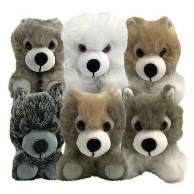 GAME OF THRONES Plush Direwolf Cub SET OF 6 in NEW IN SLIGHTLY DAMAGED BOX