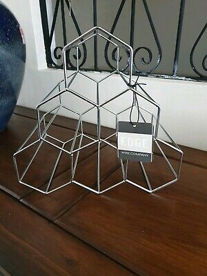 Lovely Decorative Silver Metal Wine Rack - New with Tags