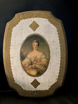 Vintage Italian Florentine Gold Gilt Tole Wood Picture Large Must SEE !!!