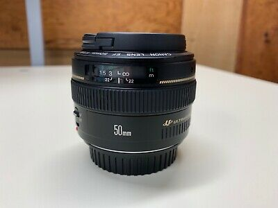 Canon Lens Ef 50Mm F/1.4 Usm W/ Caps Ultrasonic