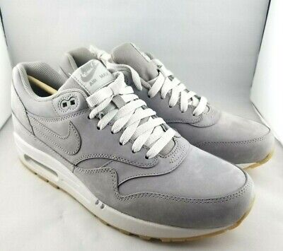 reputable site c155f 53915 Nike Air Max 1 LTR Premium 705282-005 Medium Grey Gum Sole Men s Size 9