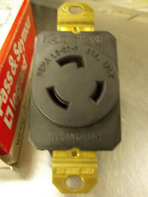 PASS & SEYMOUR L620R L620-R TURNLOK RECEPTACLE 20A 125V, Made in USA