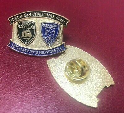 La Rochelle Clermont Rugby European Challenge Cup Final Pin Badge