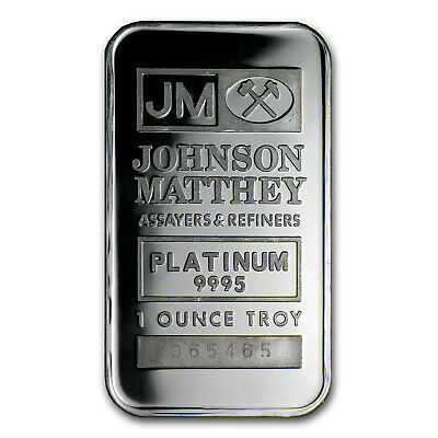 1 oz Platinum Bar - Johnson Matthey - SKU #66433