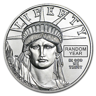 1 oz Platinum American Eagle Coin BU (Random Year, 1997-2018)