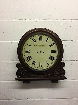 Antique Georgian Double Fusee Bracket Wall Clock For Restoration