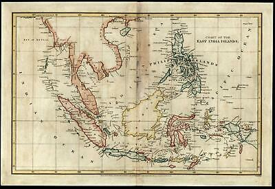 Southeast Asia East India Islands Philippines Borneo 1808 Arrowsmith Cooper map