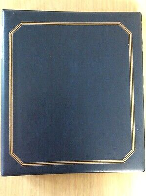 Blue First Day Cover Album + 8 Pages Vgc