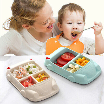 Divided Tableware Plate Baby Feeding Plate Separation Bowl Rice Bowl Cup Car L