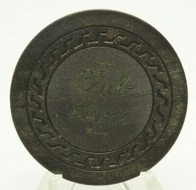 Club Lake Black Poker Chip 25C Rope Mold Illegal Casino Hot Springs AR