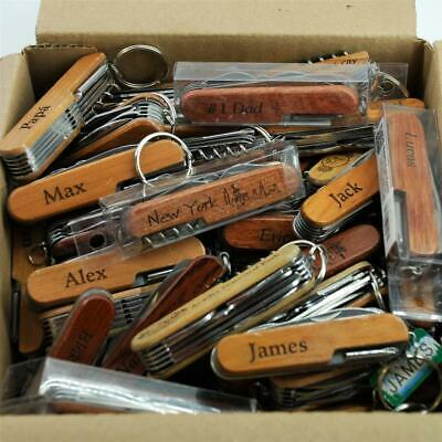 Lot of 50 Random Good Wooden Souvenir Swiss Army Type knives TSA confiscated