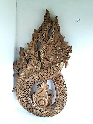 Huge Wooden Balinese Carving Carved Dragon Wood Treen Ornament Animal