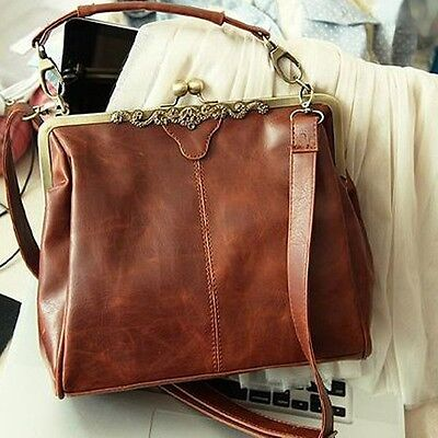 Women Faux Leather Handbag Satchel Messenger Cross Body Lady Shoulder Bags LJ